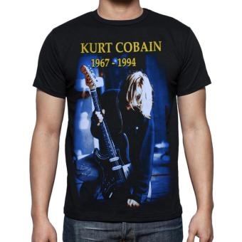 Harga Blacklabel Kaos Hitam BL KURT COBAIN 04 T-Shirt Rock Star Metal Band Gothic - S