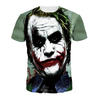 Harga Jiayiqi Funny Joker Short Sleeve T-shirt Tops Summer Punk Print T-Shirts Clown - intl