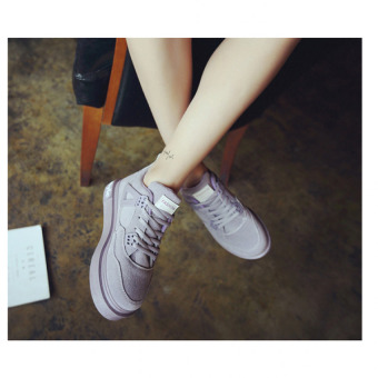 Harga BBB Students thick shoes Purple - intl