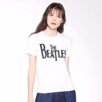 Iconic Design Tumblr Tee / T-shirt / Kaos Wanita The Beatles - White