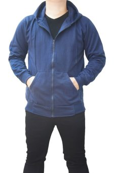 Harga Quincy Jacket Zipper Hoodie Man - Navy
