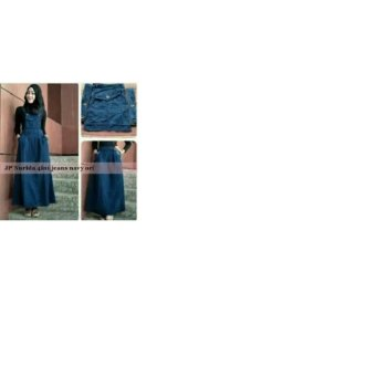 Harga Celana Joger Denim Zetha Full Hitam PriceNia com Source · Blouse Rok Overall Hijab Denim