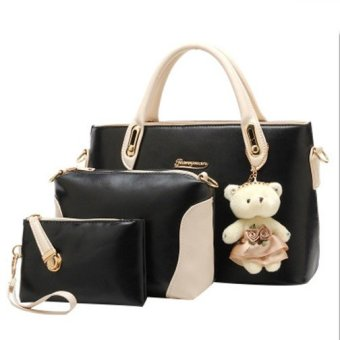 Harga Amour Fashion Bag Best Seller Tas Import Wanita 3 in 1 17071 - Hitam