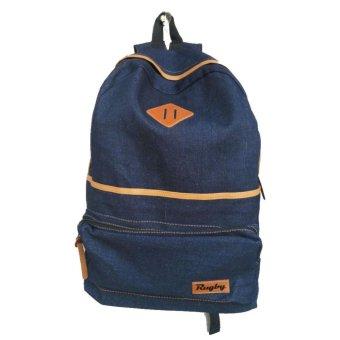 Aluz BPL2 Unisex Tas Ransel Backpack -Laptop - Denim - Murah & Ergonomi ( Navy
