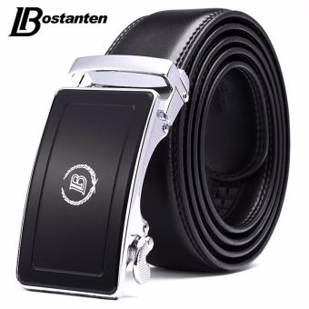 Harga Bostanten Men's Genuine Cow Leather Belts Black With A Gift Box - intl