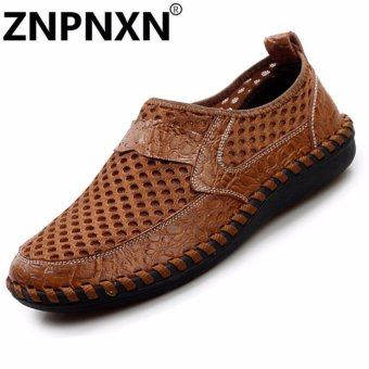 Harga Mode the man ZNPNXN renda up/loafers and Chemicals differences kain tule kulit serta (Coklat)