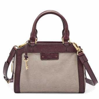 Harga Fossil Logan Small Satchel – Grey, ZB 6973020
