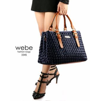 Harga Aquinn Labelle Women Leather WeBe Handbag (Navy)