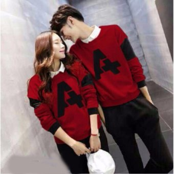Harga Couple Store- Sweater Pasangan A Maroon