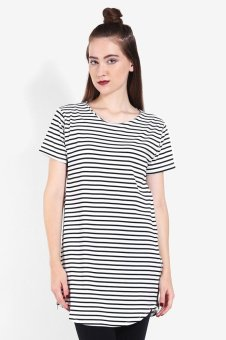 Harga QuincyLabel Dress Stripe Alexa - White