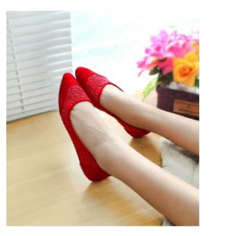 Harga Arlaine Angel Flat Shoes [Red]
