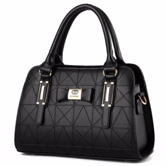 Harga Tas Wanita Fashion Woman Branded Pu Leather Handbags Import Korean And Japanese Ladies Style - Black