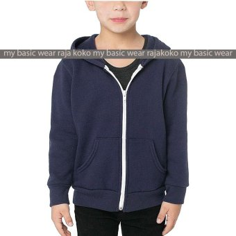 Harga Fashion Hoodie Zipper kids - Navy