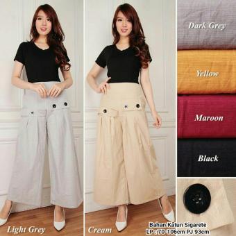 168 Collection Celana Kulot J Lo Long Pant-Cream
