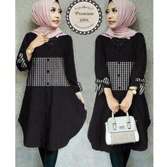 Harga Ayako Fashion Tunik Zoya - (Black)