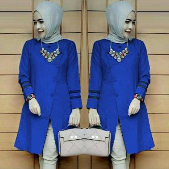 Harga Ace Fashion Tunic Long Sleeve Alexa (Blue)