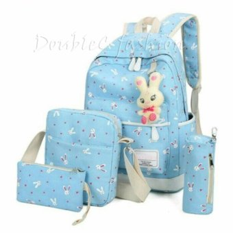 Harga DoubleC Fashion Tas Backpack 4in1 Rabbit Blue