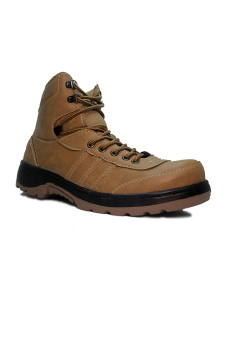 Harga D-Island Shoes Safety Boots Tracking Combat Leather Soft Brown