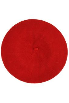 LALANG Women Beret Cap Vintage Solid Color Beanie Hat Classic Berets Red