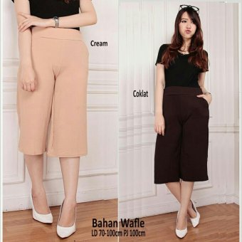 SB Collection Celana Gita Short Kulot Pant Coklat .