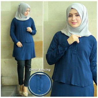 Harga Grateful Blouse Anisa - Navy