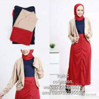 Harga Two Tone Aline Muslim Set
