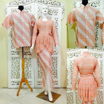 Harga Couple Batik Modern Murah Peach