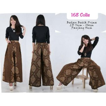 168 Collection Celana Cantika Kulot Batik Pant-Coklat