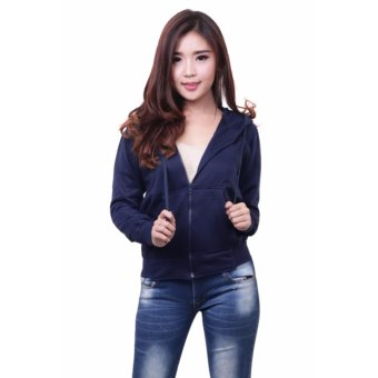 Harga Quincy Jacket Zipper Hoodie Women - Navy