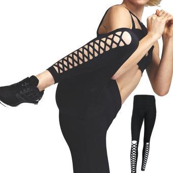 PAlight Women Sports Fitness Training Leggings High Waist Quick Drying Tights Yoga Pants - intl