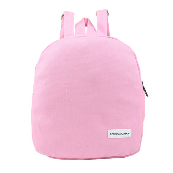 Harga La vie Women Backpack Canvas School Bag School Backpacks for Teenage Girls(Circular Pink) - intl