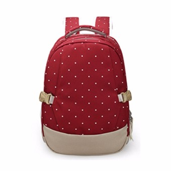 Harga Baby Kids Diaper Nappy Changing Mother Outdoor Mummy Backpack Large Shoulder Bag Red - intl