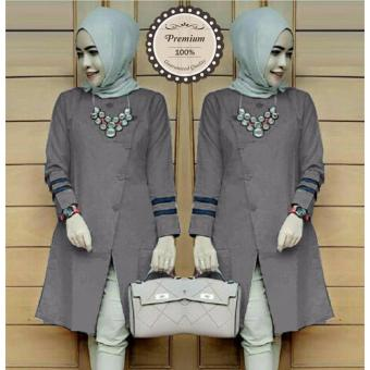 Harga Ayako Fashion Tunic Long Sleeve Alexa (Grey)
