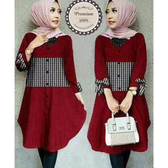 Harga Ayako Fashion Tunik Zoya - (Red)