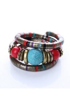 Harga Moonar Bohemian Multilayer Bead Bracelet Multicolor