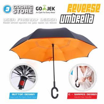 Kazbrella Payung Terbalik / Reverse Umbrella Gagang C - Orange