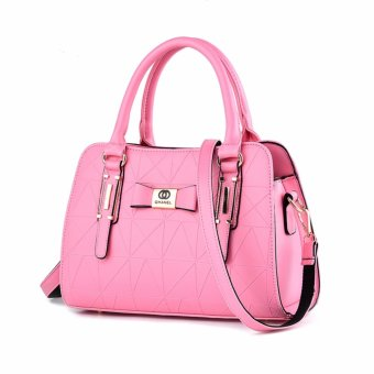 Harga Tas Wanita Fashion Woman Branded Pu Leather Handbags Import Korean And Japanese Ladies Style - Pink