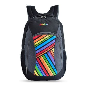 Harga Adstar Backpack Sloping Strip - Hitam Grey