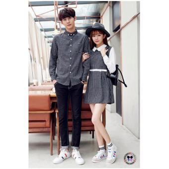 Harga couple store cs - kemeja couple dress kotak