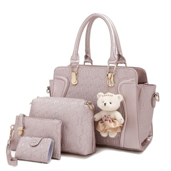 Harga Amour Fashion Bag Best Seller Tas Import Wanita 4 in 1 1706 - GOLD