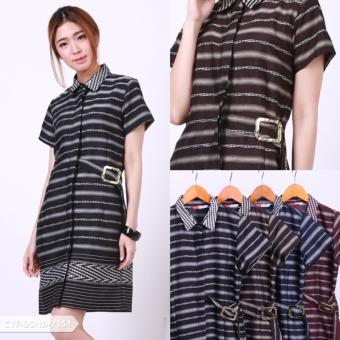 Harga Jikalita Ethnic Collar Mini Dress - Brown