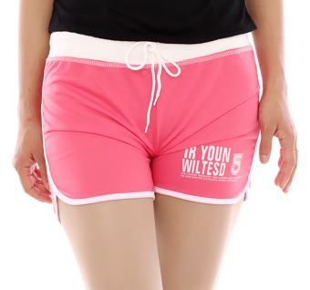 Harga Hang-Qiao Women Sports Beach Shorts Casual Hot Pants (Pink)