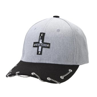 Unisex Hot Snapback Adjustable Baseball Cap Hip Hop Hat Cool Cap (Gray) - intl