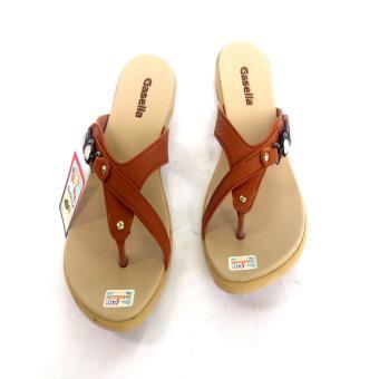 Gasella 16-MK Sandal Flat Sandal Casual Wanita Warna Moka