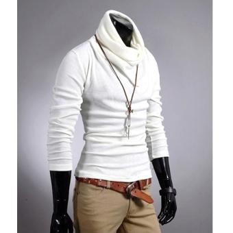 Korea Men Casual New Slim Fitting Dress Shirts T-shirt Tee Tops 6 Colors -