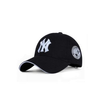 Harga Letter Baseball Cap Casual Cap Outdoor Male Female Korean Baseball Cap Cotton Hat Cap(Black) - intl