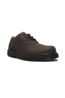 Harga D-Island Shoes Style Hikers DM Mens Leather - Cokelat