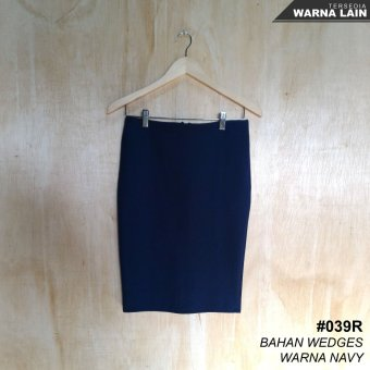 Alicia Rok Span / Pencil Skirt (Navy Blue)