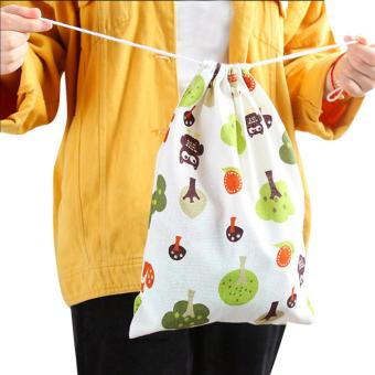 Harga Fashion Unisex Backpacks Printing Bags Drawstring Backpack 3 Sizes - intl