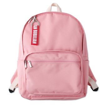Harga Bubilian BTBB Unisex Korean Basic Backpack (Pink)